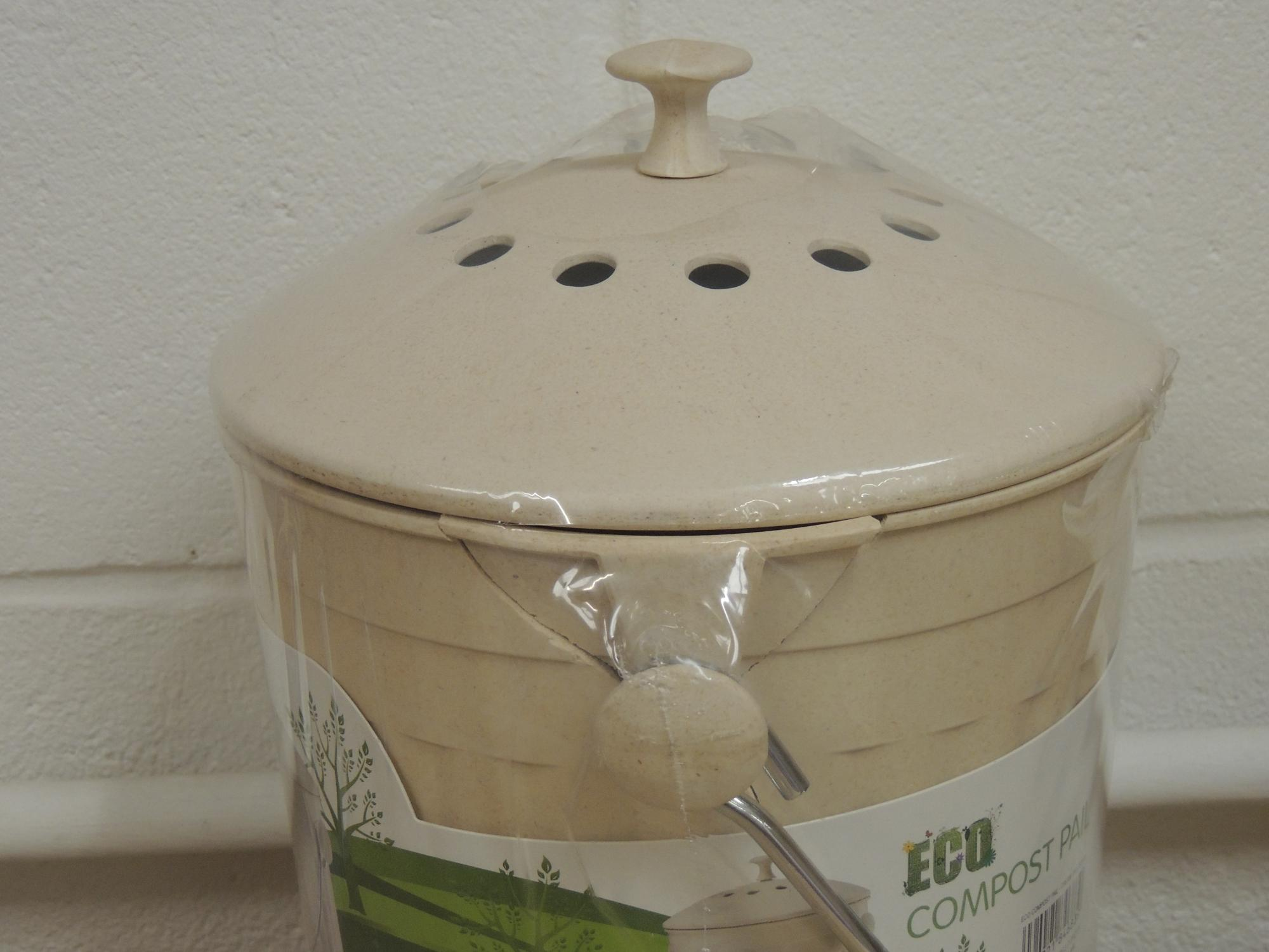 Practical Handle To Carry Your Pail Compost Heap Dishwasher Safe Base Only Replacements Filters Are Also Available Colour Cream