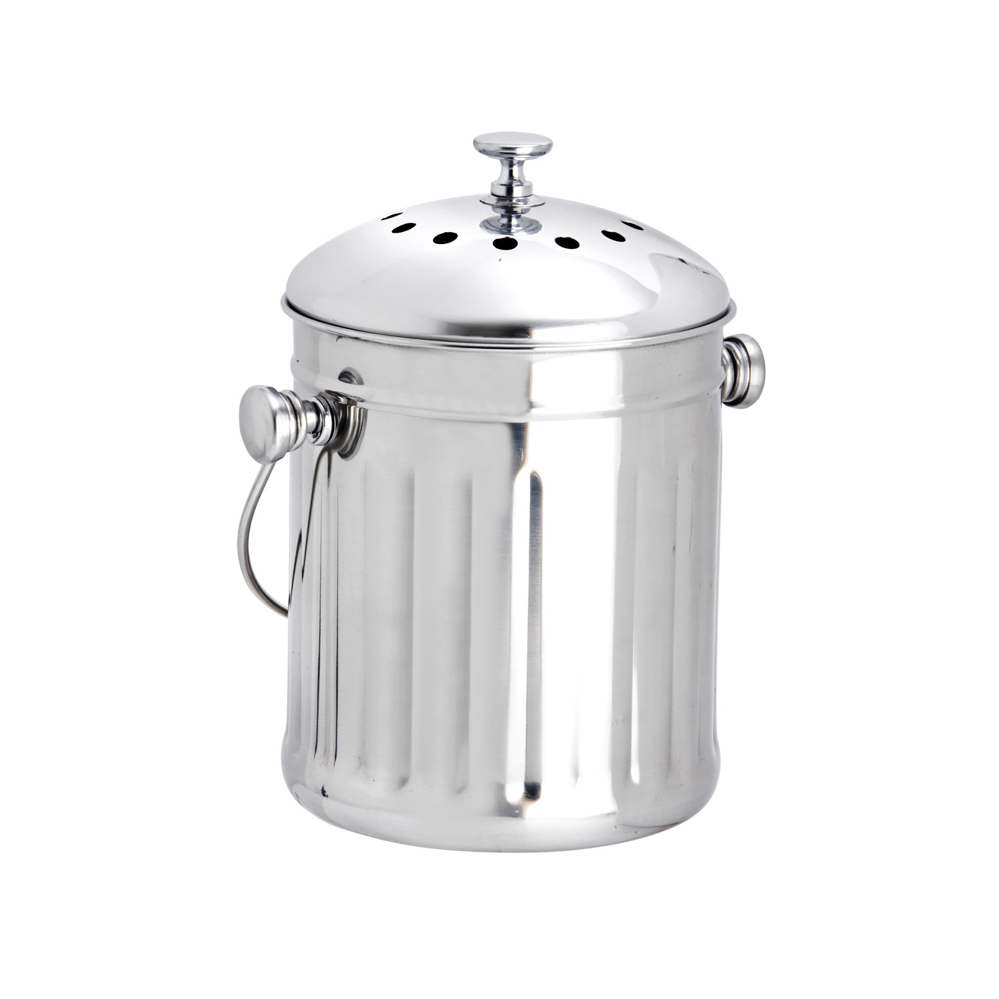 Details About Eddingtons Stainless Steel Kitchen Compost Pail Bin W Lid Filters 2 25l